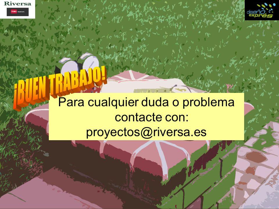 Para cualquier duda o problema contacte con: proyectos@riversa.es