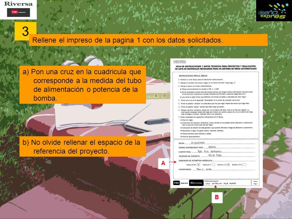 3 Rellene el impreso de la pagina 1 con los datos solicitados.