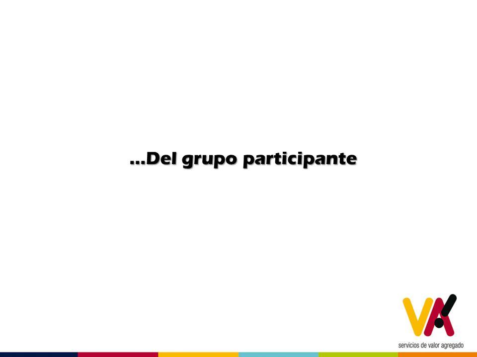 …Del grupo participante