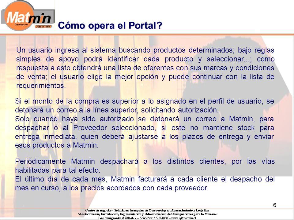 6 Cómo opera el Portal.