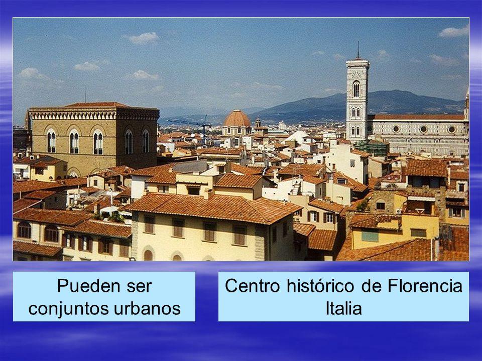 Centro histórico de Florencia Italia Pueden ser conjuntos urbanos