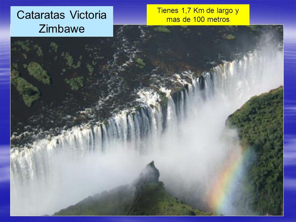 Cataratas Victoria Zimbawe Tienes 1,7 Km de largo y mas de 100 metros