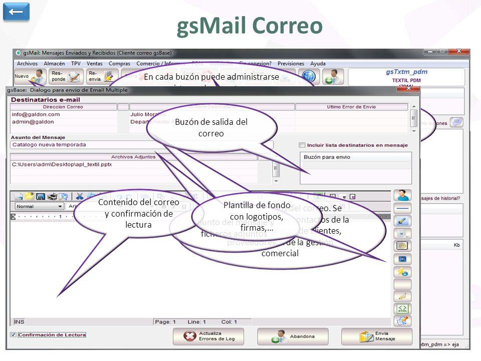 Utilidad para envío y recepción de correo electrónico.