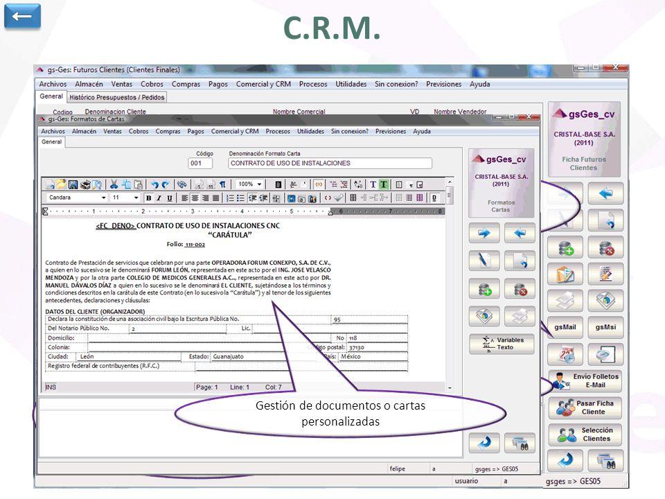 Completo módulo de CRM.
