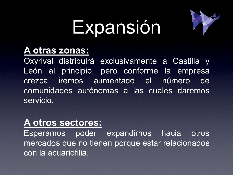 Expansión A otras zonas: Oxyrival distribuirá exclusivamente a Castilla y León al principio, pero conforme la empresa crezca iremos aumentado el númer