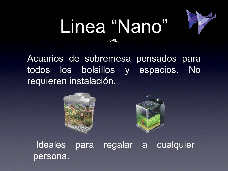 Linea Nano Acuarios de sobremesa pensados para todos los bolsillos y espacios. No requieren instalación. Ideales para regalar a cualquier persona. 6-8