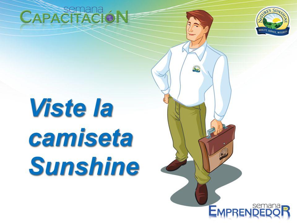 Viste la camiseta Sunshine