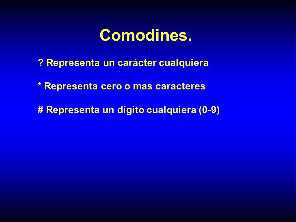 Comodines.