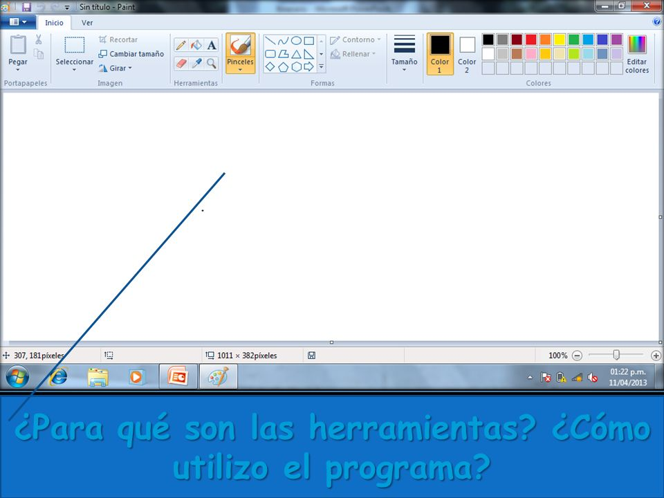 ¿Para qué son las herramientas? ¿Cómo utilizo el programa?