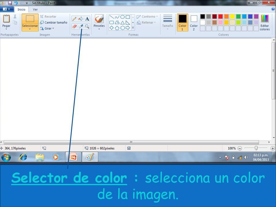 Selector de color : selecciona un color de la imagen.