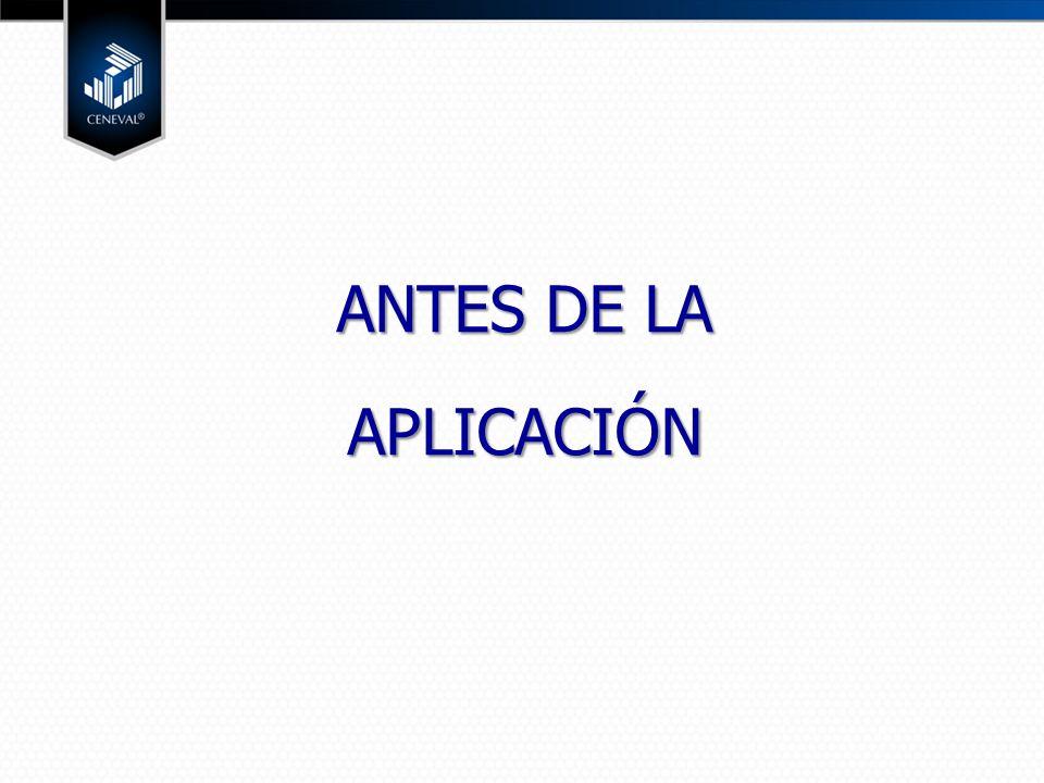 ANTES DE LA APLICACIÓN