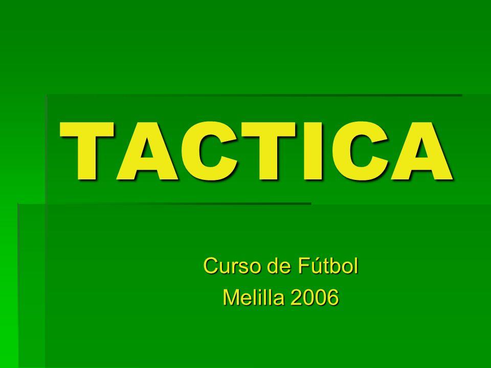 TACTICA Curso de Fútbol Melilla 2006