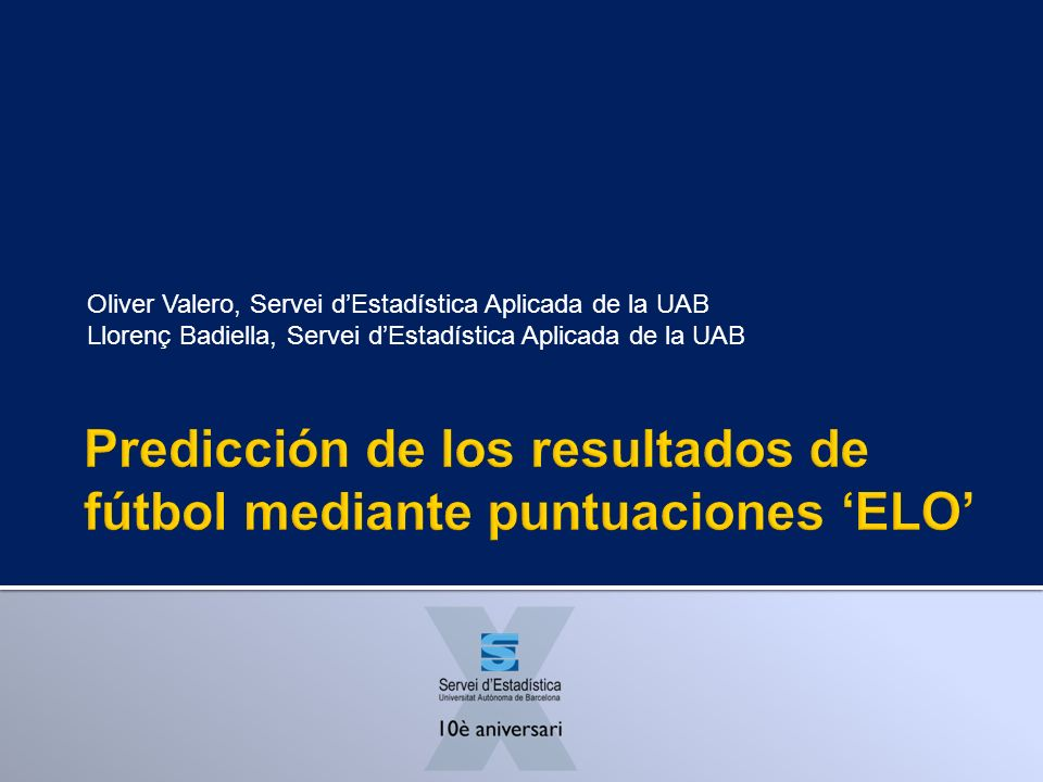 Oliver Valero, Servei dEstadística Aplicada de la UAB Llorenç Badiella, Servei dEstadística Aplicada de la UAB