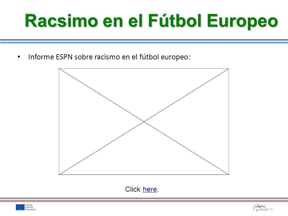 El racismo y los prejuicios en cualquier parte de la vida no son aceptables, y en el fútbol no debería ser diferente.