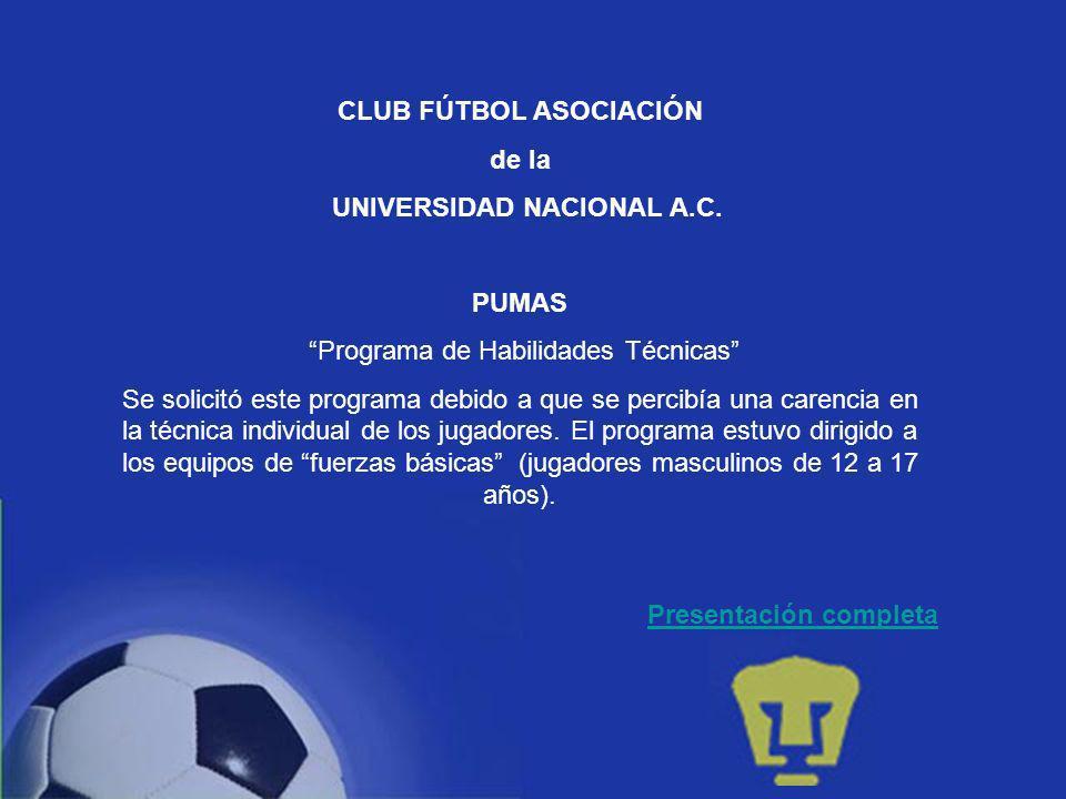 CLUB FÚTBOL ASOCIACIÓN de la UNIVERSIDAD NACIONAL A.C.