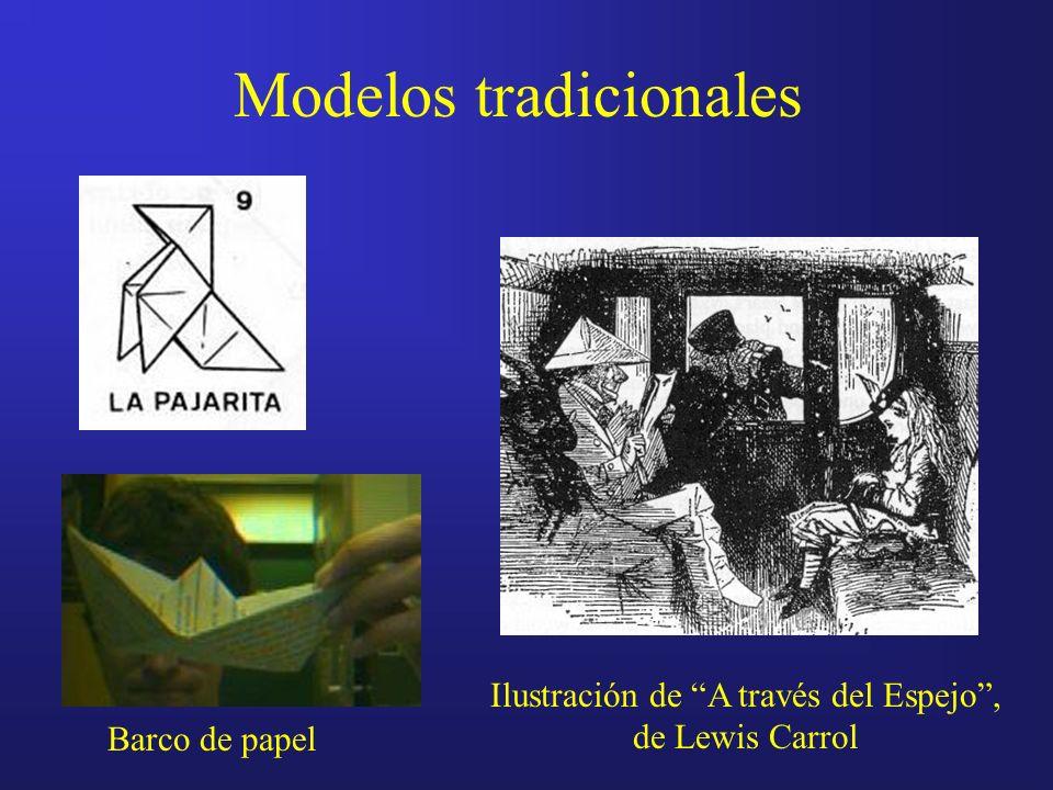 Modelos tradicionales Ilustración de A través del Espejo, de Lewis Carrol Barco de papel