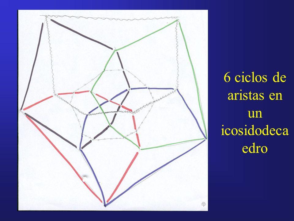 6 ciclos de aristas en un icosidodeca edro