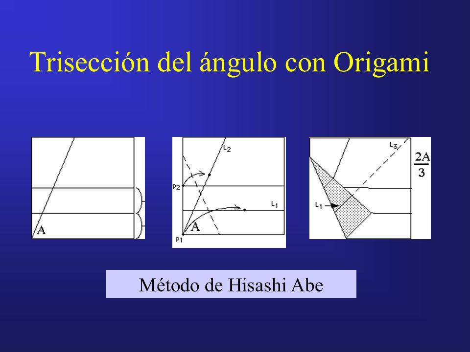Trisección del ángulo con Origami Método de Hisashi Abe