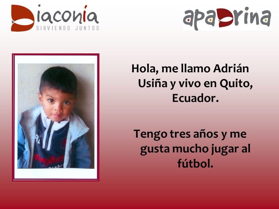 Hola, me llamo Adrián Usiña y vivo en Quito, Ecuador.