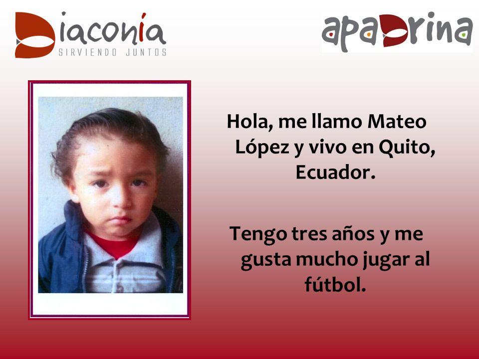 Hola, me llamo Mateo López y vivo en Quito, Ecuador.