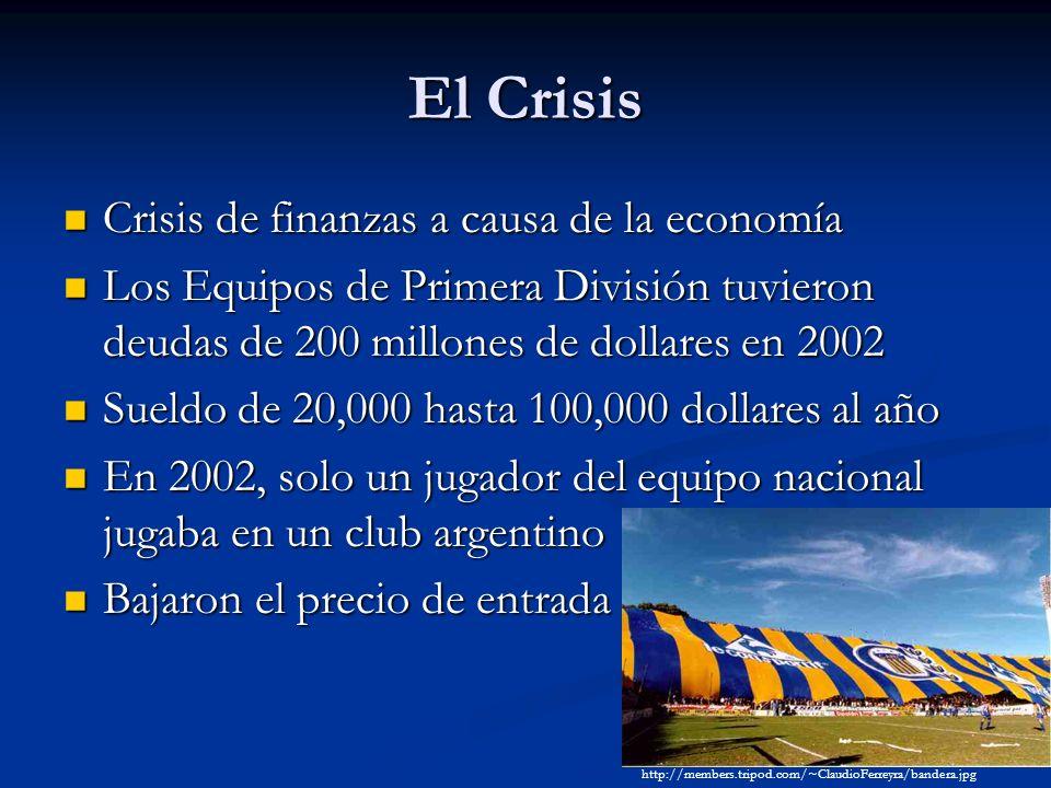 El Crisis Crisis de finanzas a causa de la economía Crisis de finanzas a causa de la economía Los Equipos de Primera División tuvieron deudas de 200 m