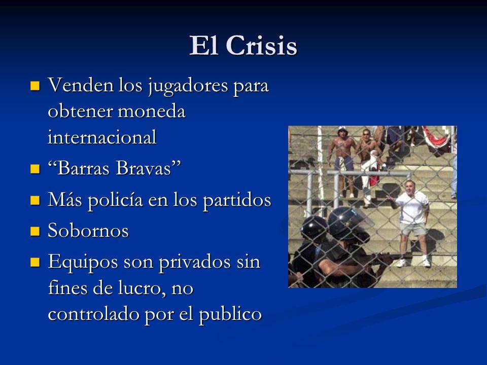 El Crisis Venden los jugadores para obtener moneda internacional Venden los jugadores para obtener moneda internacional Barras Bravas Barras Bravas Má