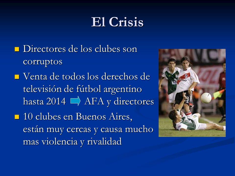 El Crisis Directores de los clubes son corruptos Directores de los clubes son corruptos Venta de todos los derechos de televisión de fútbol argentino