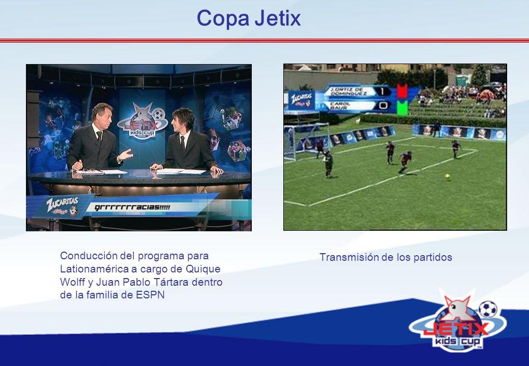 Conducción del programa para Lationamérica a cargo de Quique Wolff y Juan Pablo Tártara dentro de la familia de ESPN Transmisión de los partidos Copa