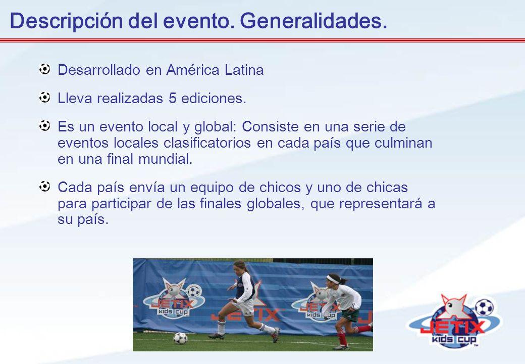Desarrollado en América Latina Lleva realizadas 5 ediciones. Es un evento local y global: Consiste en una serie de eventos locales clasificatorios en