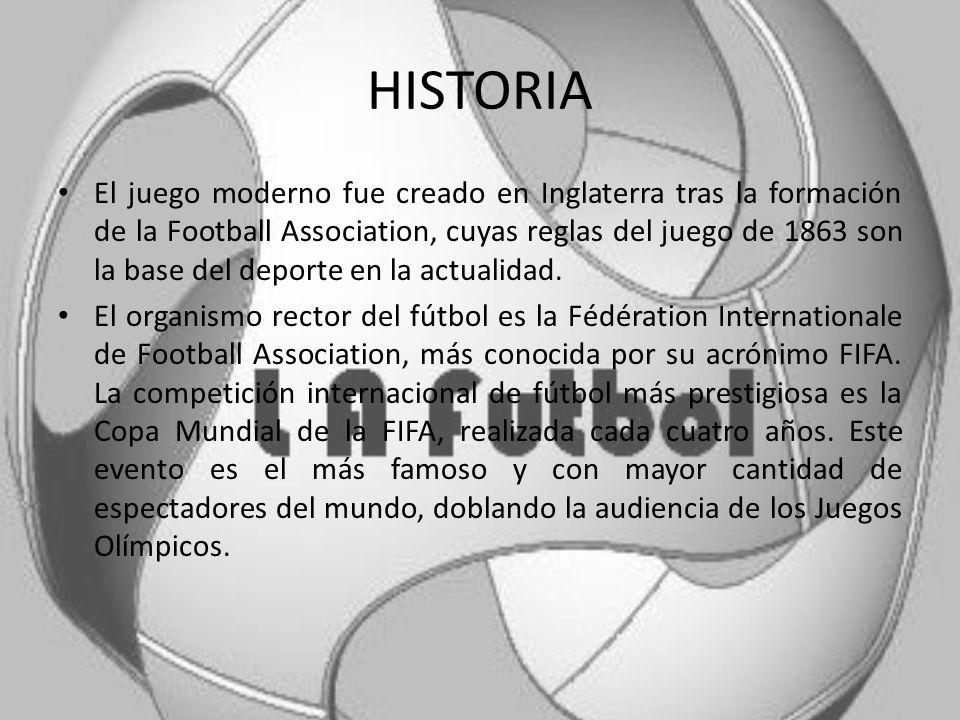El fútbol o futbol (del inglés football), también llamado balompié, es un deporte de equipo jugado entre dos conjuntos de 11 jugadores cada uno y un á