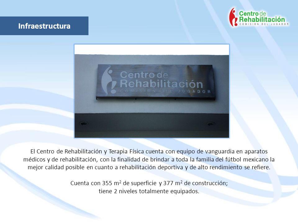 Infraestructura El Centro de Rehabilitación y Terapia Física cuenta con equipo de vanguardia en aparatos médicos y de rehabilitación, con la finalidad
