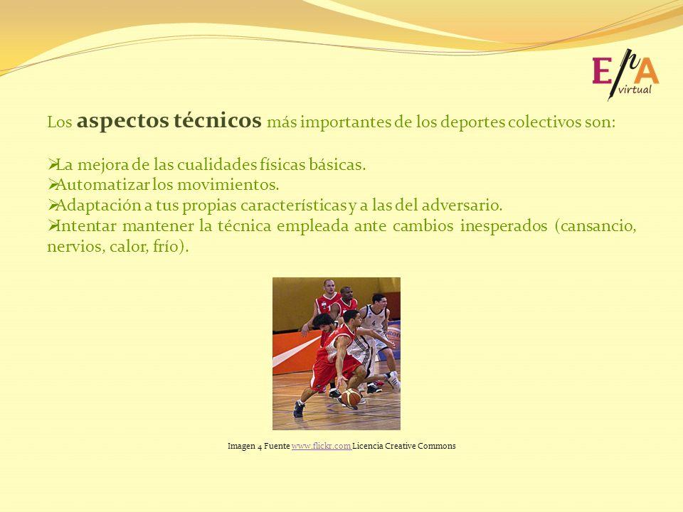 Los aspectos técnicos más importantes de los deportes colectivos son: La mejora de las cualidades físicas básicas. Automatizar los movimientos. Adapta