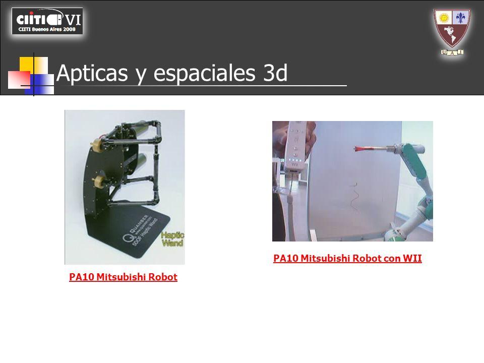 Apticas y espaciales 3d PA10 Mitsubishi Robot PA10 Mitsubishi Robot con WII