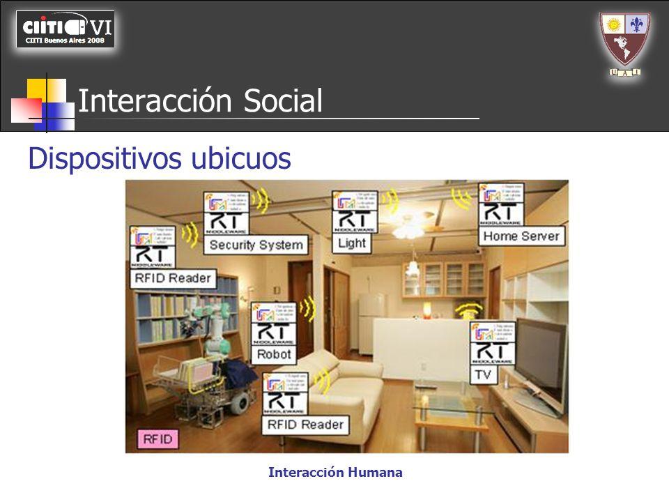 Interacción Social Interacción Humana Dispositivos ubicuos