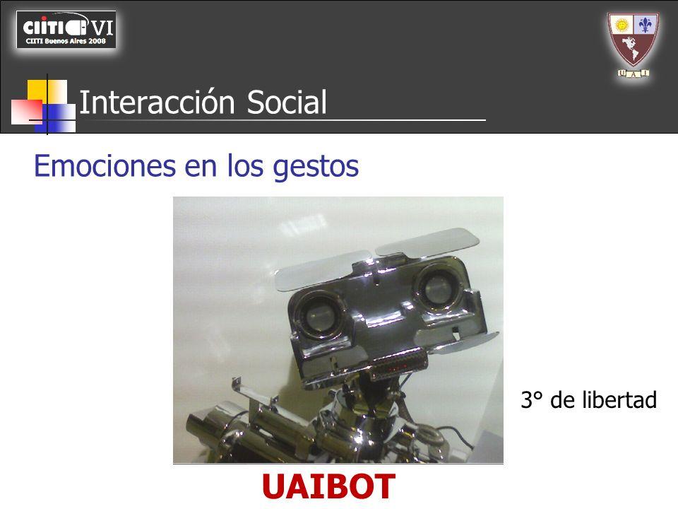 UAIBOT Interacción Social Emociones en los gestos Cabeceo Cejas 3° de libertad