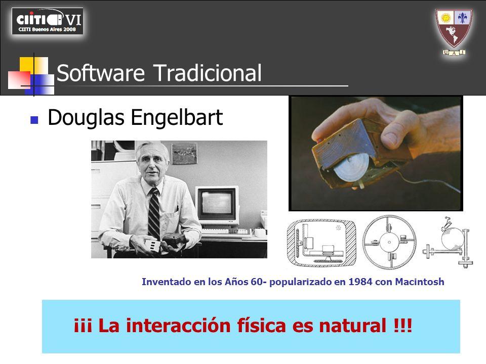 Software Tradicional Entorno Grafico Mouse Iconos Metáforas de la realidad Windows 3.0 (Mayo 1990)