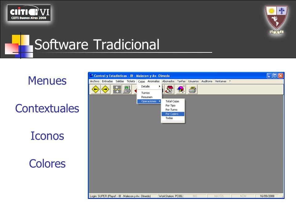 Software Tradicional GUI Señales Visuales