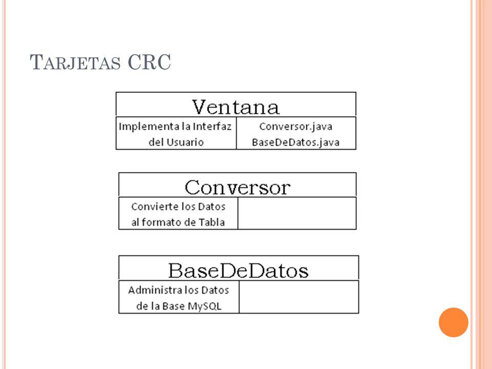 T ARJETAS CRC