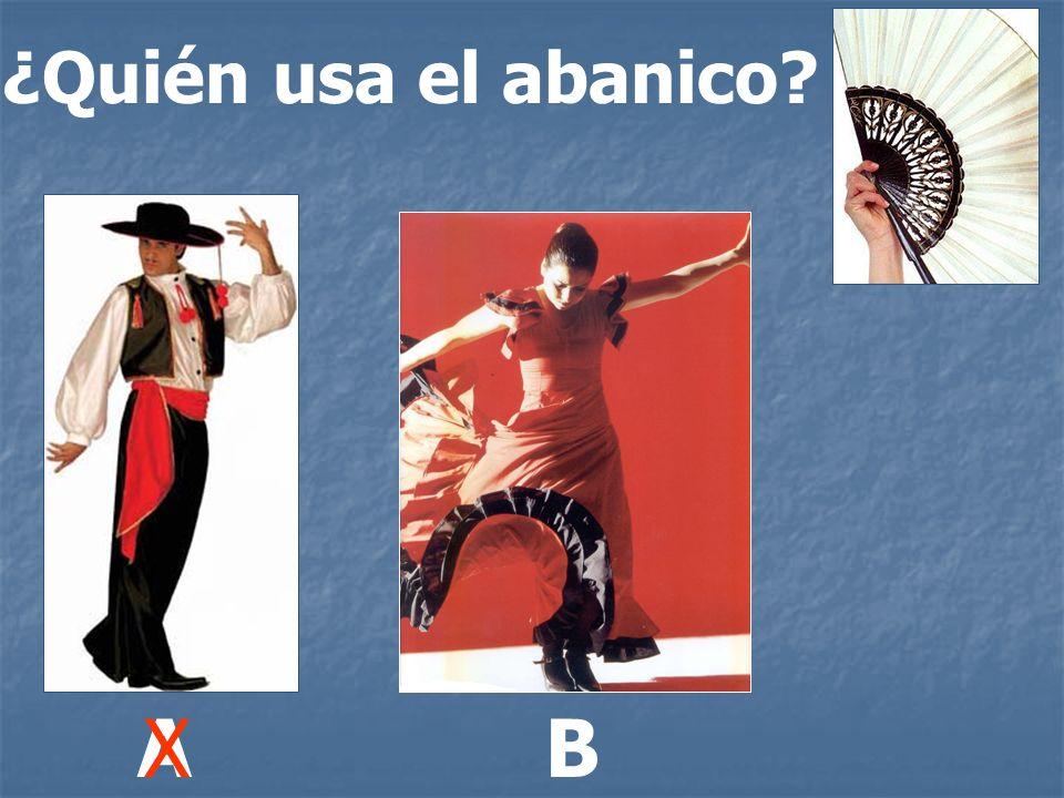 ¿Quién usa el abanico? ABX