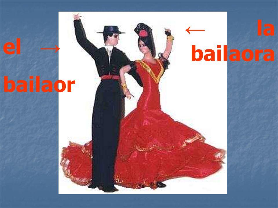 el bailaor la bailaora