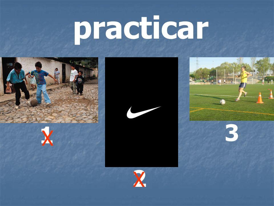 practicar 1 2 3 X X