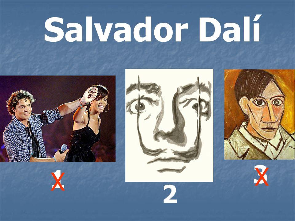 Salvador Dalí 1 2 3 X X