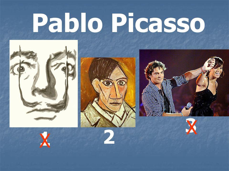 Pablo Picasso 1 2 3 X X