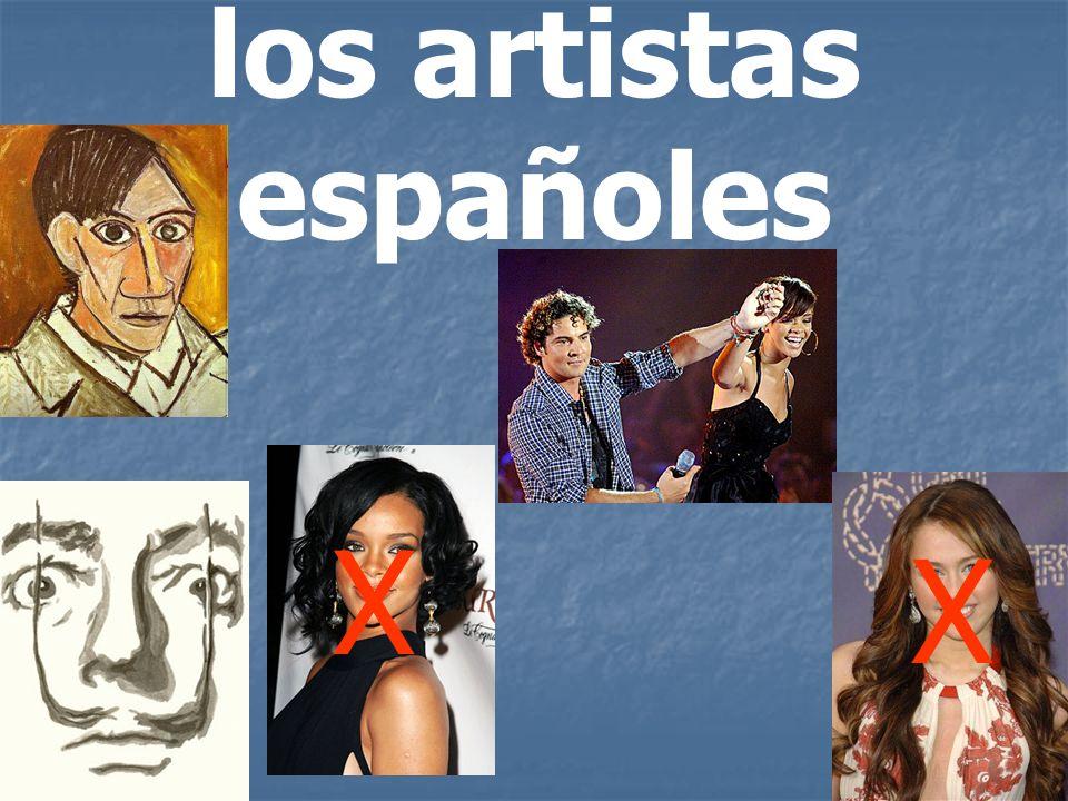 los artistas españoles X X