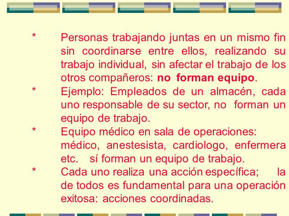 *El trabajo en equipo se basa en las 5 c : -Complementariedad: cada quien domina una parte especifica del proyecto.