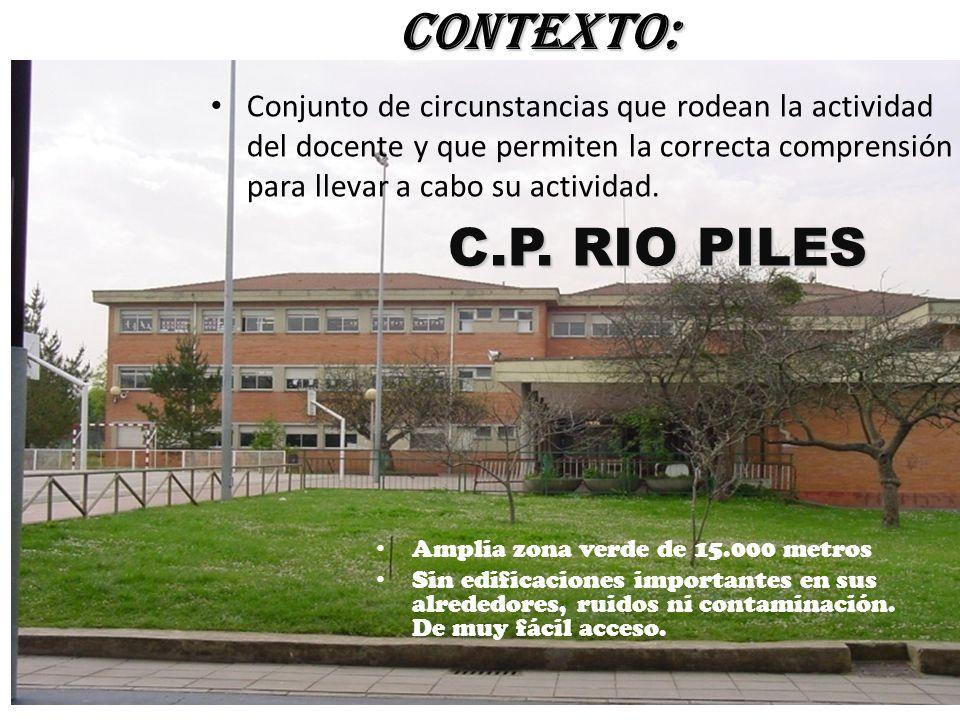 C.P. RIO PILES Amplia zona verde de 15.000 metros Sin edificaciones importantes en sus alrededores, ruidos ni contaminación. De muy fácil acceso. CONT