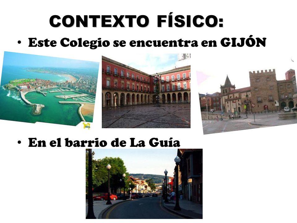 CONTEXTO FÍSICO: Este Colegio se encuentra en GIJÓN En el barrio de La Guía