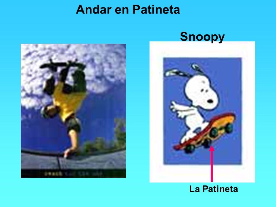 Snoopy Andar en Patineta La Patineta