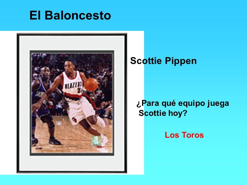 El Baloncesto Scottie Pippen ¿Para qué equipo juega Scottie hoy? Los Toros
