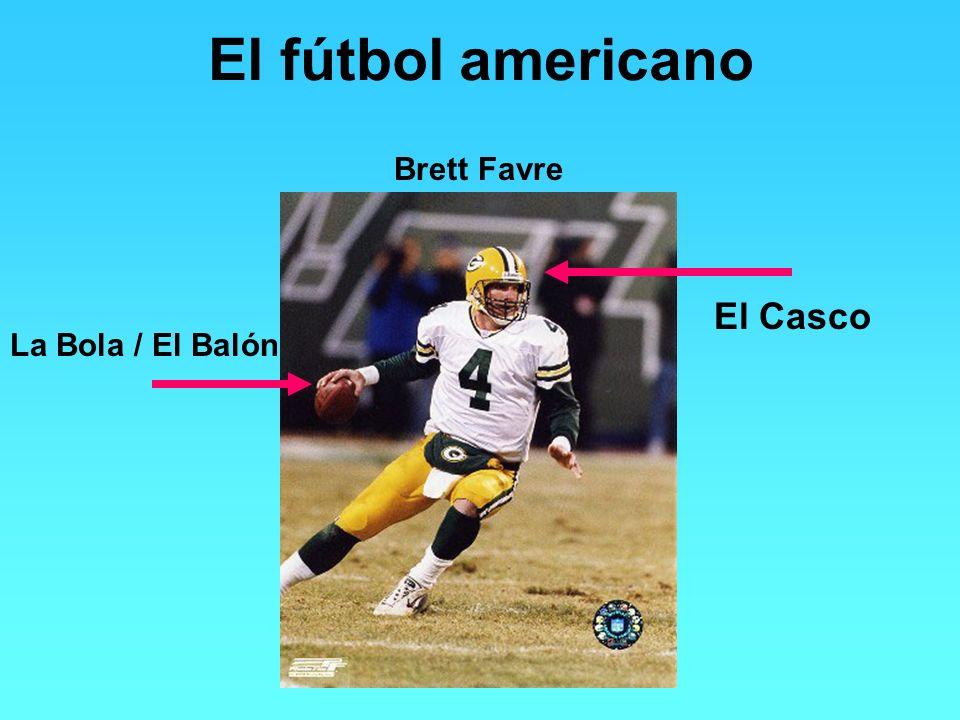 El fútbol americano Brett Favre La Bola / El Balón El Casco